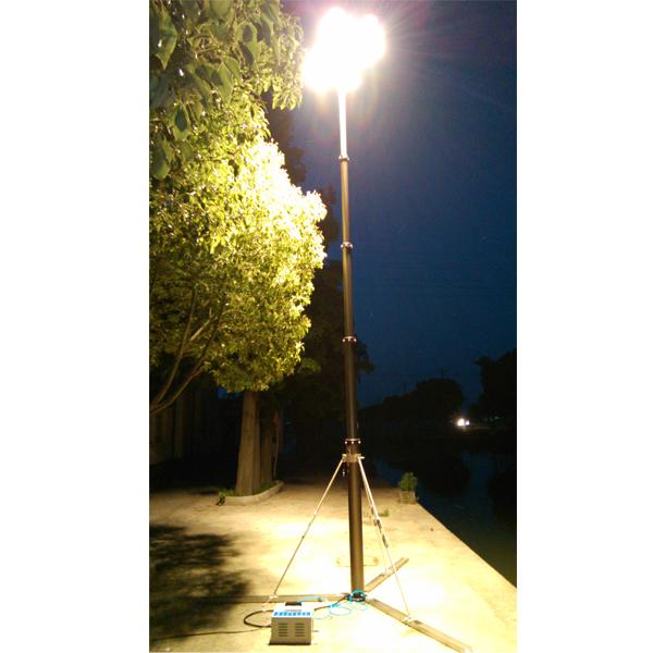 telescopic lighting mast