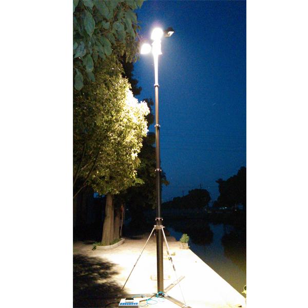pneumatic telescopic mast for illumination