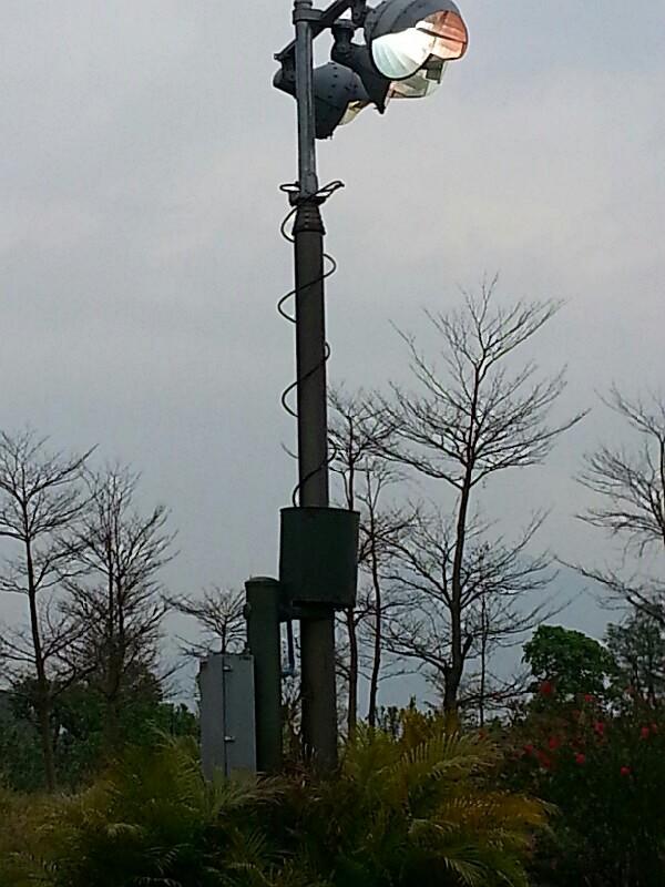 lighting mast, control enclosure