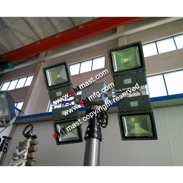 4x 100W LED lamps