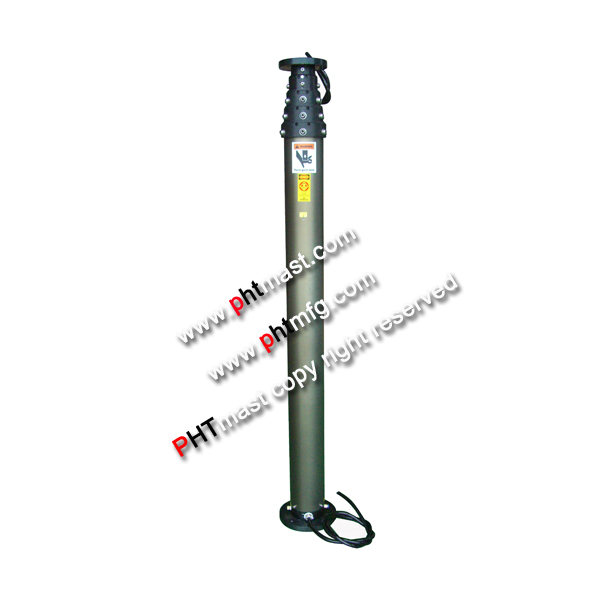 lighting mast for fire-fighting truck, fire fighting mast