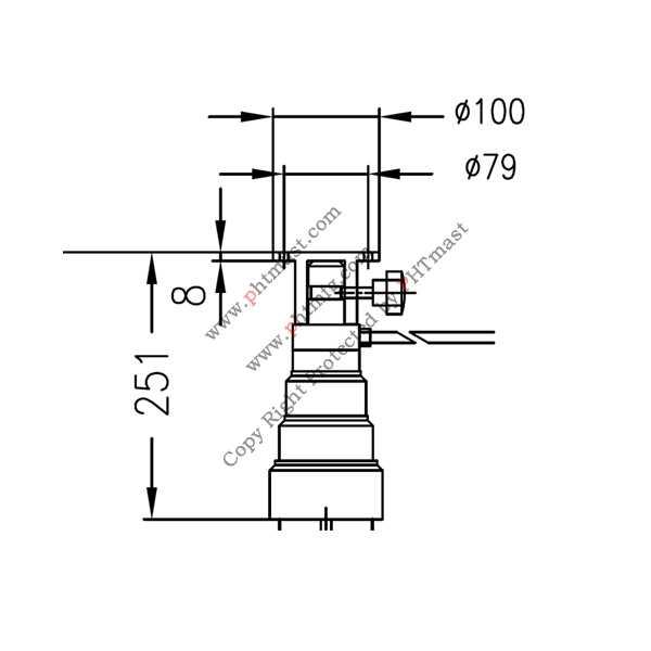 71204~masts top flange
