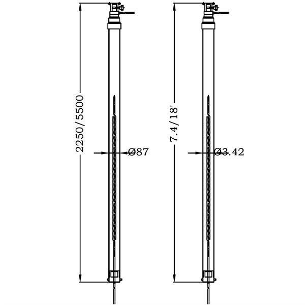 5.5m lighting mast