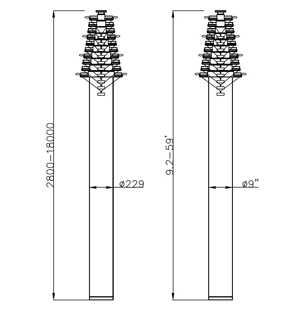 18m mast dimension