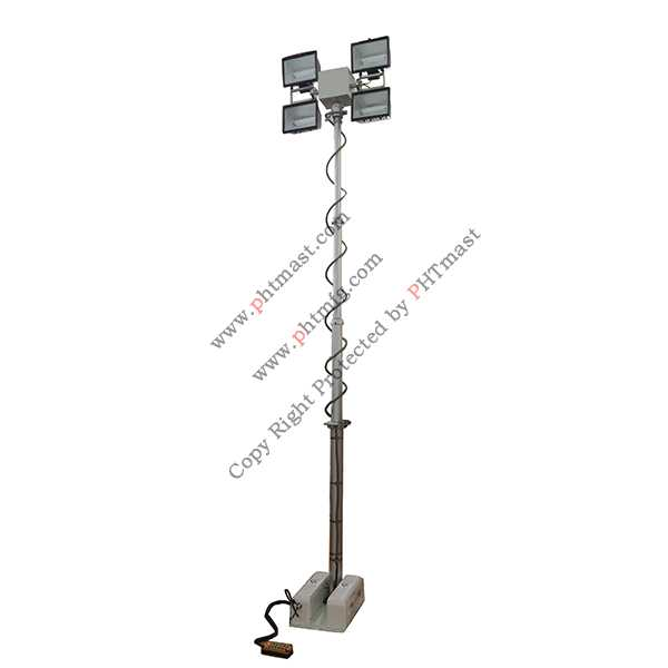 vehicle roof mount move lighting tower 4000W lamps