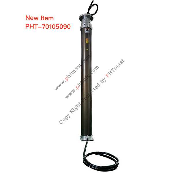 9m Heavy Duty Pneumatic Telescopic Lighting Mast