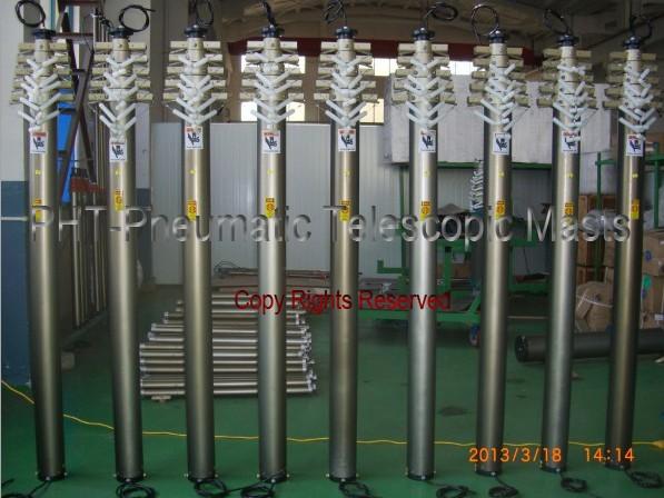 9m Pneumatic Telescopic Masts for LED Street Lights