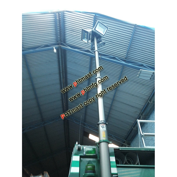 9m Fire-fighting Truck Mounted Lighting Tower