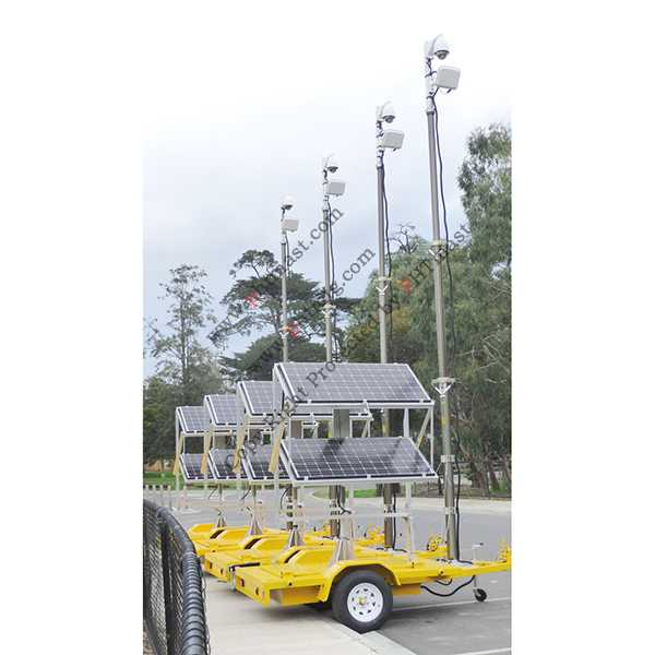 6m Mobile Solar CCTV Trailer