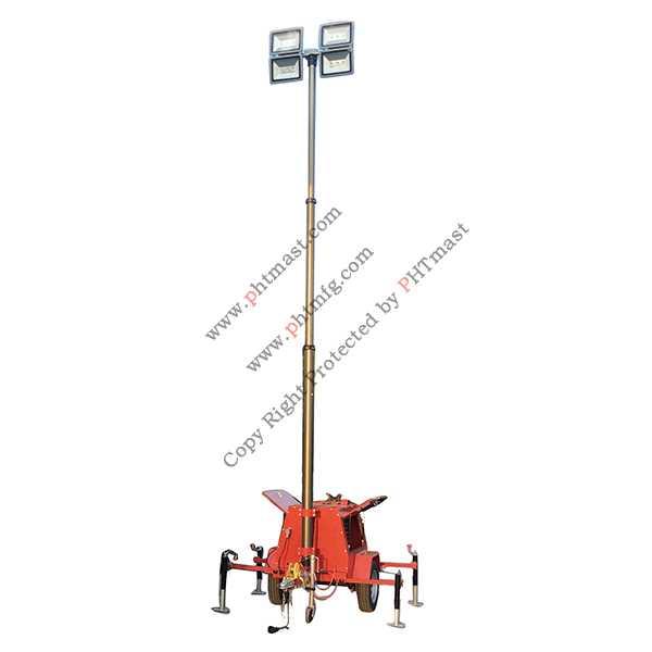 600W LED Mobile Lighting Tower