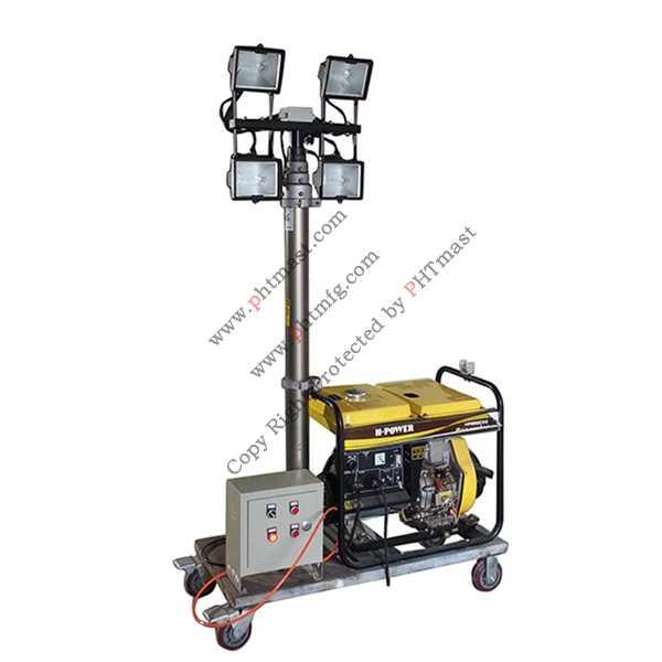 Portable Diesel Generator Mobile Lighting Tower