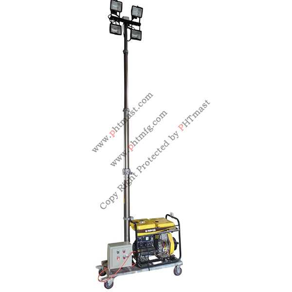 Remote Control Mobile Lighting Tower
