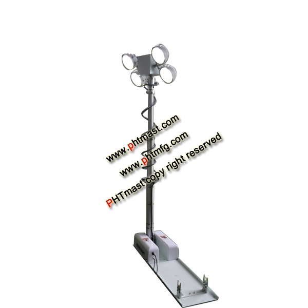 2.5m Roof-Mounted Lighting Tower-4x60W LED lamps