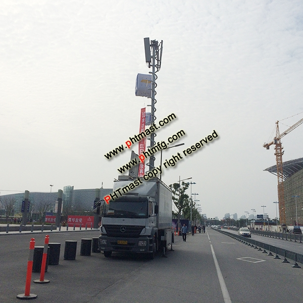 15m Super Heavy Duty Locking Mast for Mobile Telecommunication Tower