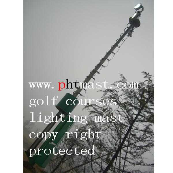 15m Golf Course Lighting Mast Tower