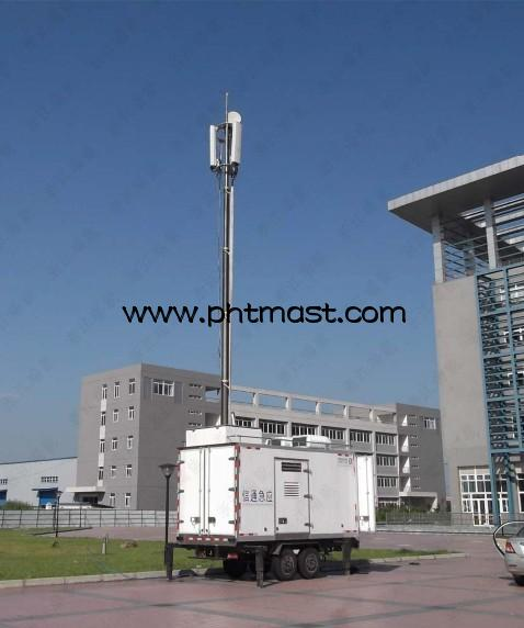 14.5m Pneumatic Masts for Mobile Transceiver Base Station