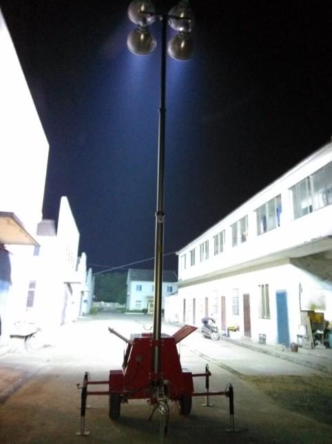 4000W Metal Halide Lamps Mobile Lighting Tower